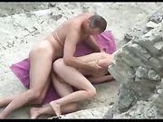 Sexo al aire libre en la playa
